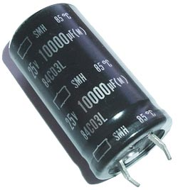 10000uF 25V Radial Snap Mount Electrolytic Capacitor Nippon SMH25VN103M22X40T2