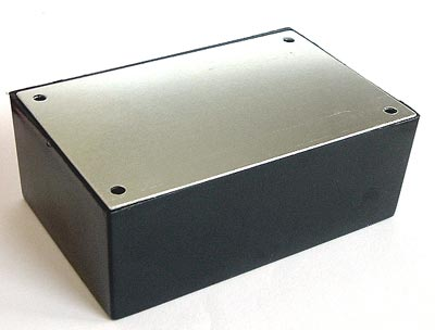 "Project Box Plastic with Aluminum Cover 5.25""x3.25""x1.562"""