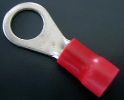 Solderless Crimp Terminal 0.265 Red Ring Lugs R3034BR Hollingsworth