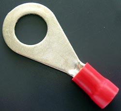 Solderless Crimp Terminal 0.265 Red Ring Lug R3042BF Hollingsworth