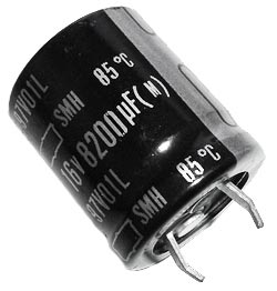 8200uF 16V Radial Snap In Electrolytic Capacitor Nippon SMH16VN822M22X25T2