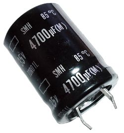 4700uF 35V Radial Snap Mount Electrolytic Capacitor Nippon SMH35VN472M22X25T2
