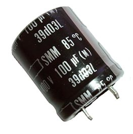 100uF 400V Radial Snap In Electrolytic Capacitor Nippon SMM400VS101M22X25T2