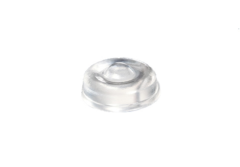 Clear Cylindrical Soft Durometer Adhesive Rubber Feet Bumpers 12.7mm X 5.1mm