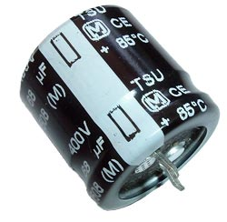 68uF 400V Radial Snap Mount Electrolytic Capacitor Panasonic TSU Series