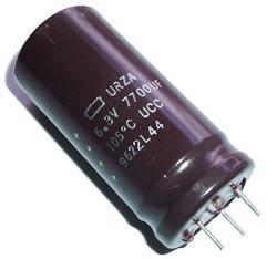 7700uF 6.3V Radial Electrolytic Capacitor Nippon Chemi Con® URZA6.3VG772M