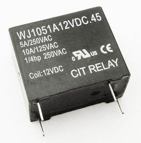 5A 12VDC SPST Relay Normally Open CIT WJ1051A12VDC 45
