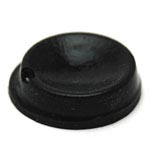 Black Round Adhesive Rubber Feet Concave Bumpers 12.7mm X 3.5mm