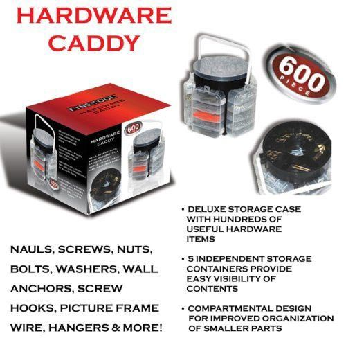 Portable Tool & Hardware Caddy - 600 pcs of hardware included