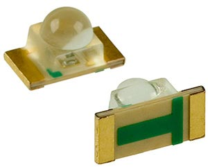 Yellow Surface Mount 1206 Dome LEDS HAY1105W