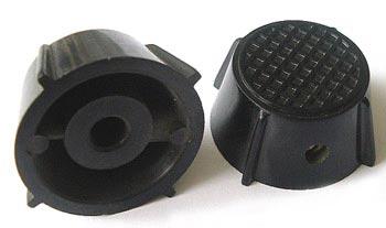 Plastic Black Control Instrument Set-Screw Knob