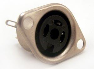 3 Pin Din Circular Sockets Chassis Mount