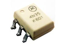 4N35S 6 Pin Optoisolator Photo Transistor SMT