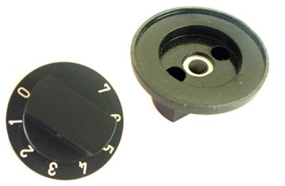 Black Volume Control Dial Knob Numbered 0-7