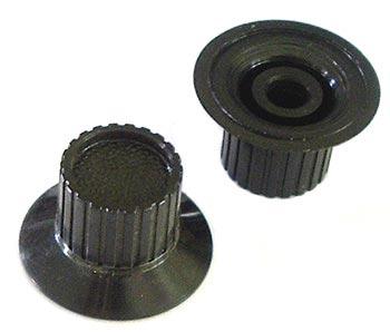 Black Plastic Ribbed Panel Control Skirt Knob