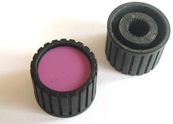 Black Plastic Ribbed Small Control Knob