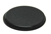 Black Round Self-Adhesive Rubber Feet Wide Bumpers 31.24mm X 2.54mm