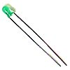 Green 3mm T1 LEDS Standard Brightness