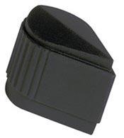 Military Skirted Pointer Matte Black Knob MS915281K1B