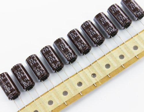 Radial Electrolytic Capacitor Assortment - Great Kit for Prototyping, Classrooms, Hobbyists