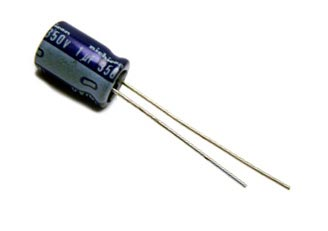 1uF 350V Radial Electrolytic Capacitor