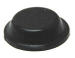 Black Cylindrical Adhesive Rubber Feet Bumpers 12.7mm X 3.5mm