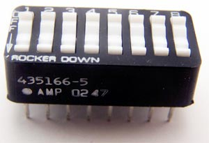 8 Position Dip Switch Amp-Tyco 435166-5