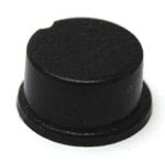 Black Round Self-Adhesive Rubber Feet Tall Bumpers 12.7mm X 6.4mm