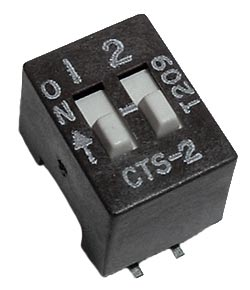 2 Position DIP Switch Surface Mount CTS 204-25T
