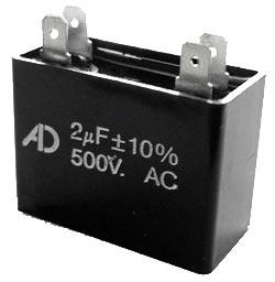 2uF 500V Motor Run Capacitor ADM500C205K