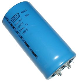 12000uF 100V Radial Snap In Electrolytic Capacitor Nippon 82DA123M100NG2