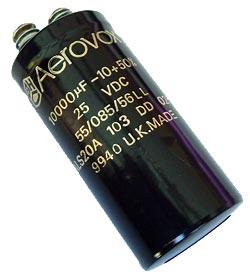 10000uF 25V Computer Grade Capacitor BHC Aerovox ALS20A103DD025