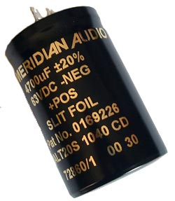 4700uF 63V Aluminum Radial Electrolytic Capacitor Meridian ALT20A1040CD