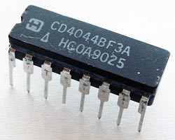 CD4044BF3A CMOS Quad NAND RS Latch IC Harris