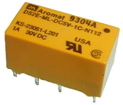 80mA 5V Miniature Relay Aromat DS2E-ML-DC5V