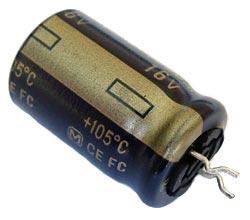 1500uF 16V  Radial Snap In Electrolytic Capacitor Matsushita EEUFC1C152E