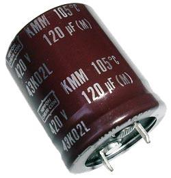 120uF 420V Radial Snap In Electrolytic Capacitor Nippon EKMM421VSN121MQ30T