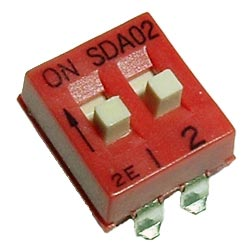 2 Position DIP Switch Surface Mount C&K SDA02H1SKD