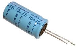 10uF 25V Non-Polar Radial Electrolytic Capacitors UHA1E100KHA