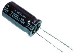 2200uF 10V Radial Electrolytic Capacitor Nichicon UPL1A222MHH