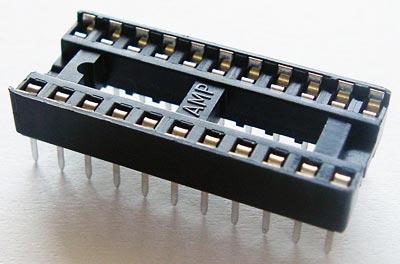 22 Pin IC Socket Amp 2-641603-3