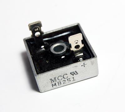 25A 110V Single Phase Bridge Rectifier MCC MB251D