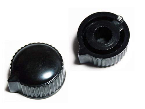 Black Plastic Low Profile Knurled Indicator Control Knobs