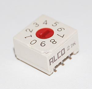 Rotary Dip Switch Surface Mount Alcoswitch DRD10S-E