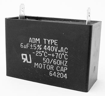6uF 440VAC Motor Run Capacitor ADM440A605J