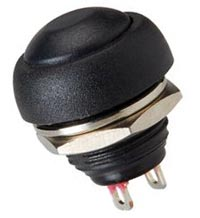 Push Button Momentary Switch Black Off On 125VAC CES 66-2440