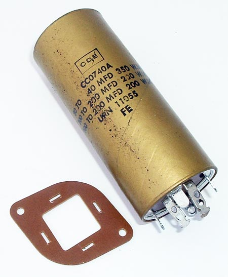Paper Capacitor Cornell Dubilier CC0740A