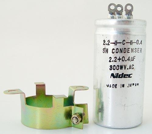 2.2+0.4uF 300VAC Condenser Capacitor Nidec