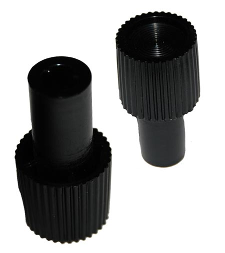 Black Plastic Volume Control Equipment Knob D-Shaft