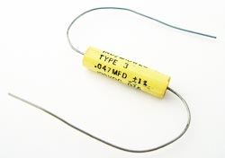 0.047uF .047uF 100V 10% Axial Film Capacitors